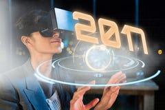 Samengesteld beeld van digitaal beeld van nieuw jaar 2017 Stock Fotografie