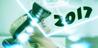 Samengesteld beeld van digitaal beeld van nieuw jaar 2017 Stock Afbeeldingen
