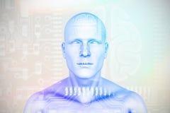 Samengesteld beeld van digitaal 3D beeld van menselijk cijfer royalty-vrije illustratie
