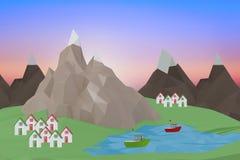 Samengesteld beeld van digitaal geproduceerd beeld van huis vector illustratie
