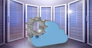 Samengesteld beeld van digitaal geproduceerd beeld van toestel door 3d wolkenvorm Royalty-vrije Stock Foto