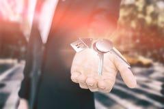 Samengesteld beeld van digitaal samengesteld beeld van sleutels Stock Afbeelding