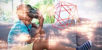 Samengesteld beeld van drie afmetingsbeeld van hexagon vorm stock illustratie