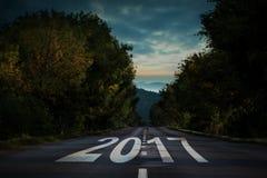 Samengesteld beeld van gelukkig nieuw jaar 2017 Stock Foto's