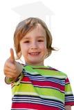Samengesteld beeld van gelukkig weinig jongen in het park Stock Fotografie