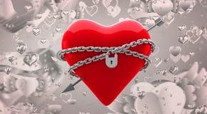 Samengesteld beeld van gesloten 3d hart Royalty-vrije Stock Foto