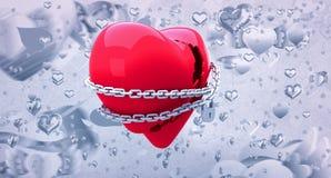 Samengesteld beeld van gesloten 3d hart Royalty-vrije Stock Foto's