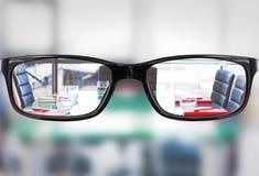 Samengesteld beeld van glazen Stock Foto