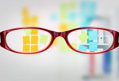 Samengesteld beeld van glazen Stock Fotografie