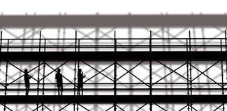 Samengesteld beeld van glimlachende architect met 3d bouwvakker Stock Fotografie