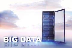 Samengesteld beeld van grote gegevens stock illustratie