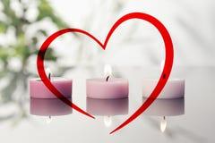 Samengesteld beeld van hart Royalty-vrije Stock Afbeelding