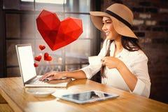 Samengesteld beeld van hart Royalty-vrije Stock Fotografie