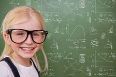 Samengesteld beeld van het leuke leerling glimlachen Stock Afbeelding