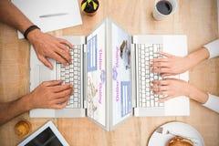 Samengesteld beeld van het online dateren app Royalty-vrije Stock Afbeeldingen