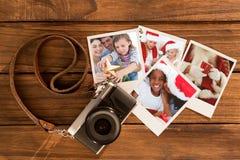 Samengesteld beeld van het portret van familiekerstmis Stock Afbeeldingen