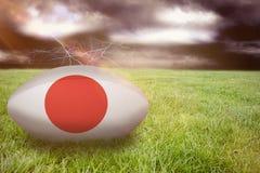Samengesteld beeld van het rugbybal van Japan Royalty-vrije Stock Fotografie