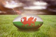 Samengesteld beeld van het rugbybal van Wales Royalty-vrije Stock Afbeelding
