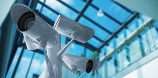 Samengesteld beeld van kabeltelevisie-camera Royalty-vrije Stock Afbeelding