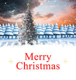 Samengesteld beeld van Kerstmiskaart Stock Foto's