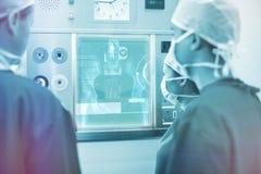 Samengesteld beeld van medische interface op xray 3d Stock Afbeelding
