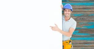Samengesteld beeld van mensen aan het werk in 3d Royalty-vrije Stock Afbeelding