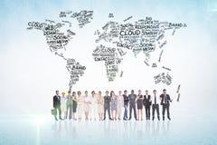 Samengesteld beeld van multi-etnische bedrijfsmensen die zich zij aan zij bevinden Stock Afbeeldingen