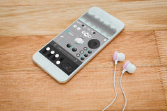 Samengesteld beeld van muziek app Stock Foto's