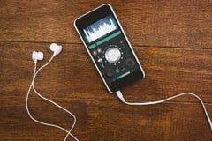 Samengesteld beeld van muziek app Royalty-vrije Stock Fotografie