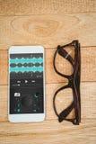 Samengesteld beeld van muziek app Stock Afbeeldingen