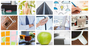 Samengesteld beeld van onderneemsters die een akkoord bereiken Stock Afbeelding