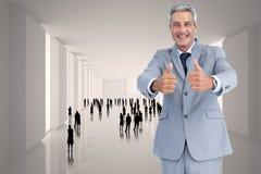 Samengesteld beeld van positieve knappe zakenman Royalty-vrije Stock Afbeelding