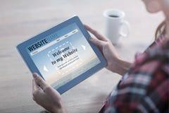 Samengesteld beeld van samengesteld beeld van de interface van de bouwstijlwebsite royalty-vrije stock foto