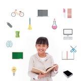 Samengesteld beeld van schoolpictogrammen Stock Afbeeldingen