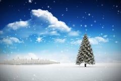 Samengesteld beeld van sneeuw Royalty-vrije Stock Afbeeldingen