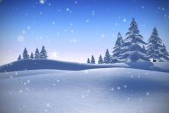 Samengesteld beeld van sneeuw Royalty-vrije Stock Foto