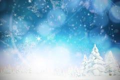 Samengesteld beeld van sneeuw Stock Foto's