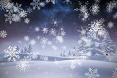 Samengesteld beeld van sneeuwvlokken Royalty-vrije Stock Fotografie