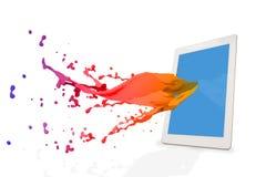 Samengesteld beeld van tabletpc Royalty-vrije Stock Afbeelding