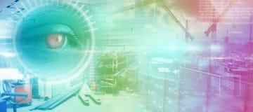 Samengesteld beeld van technologieinterface Stock Foto's