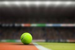 Samengesteld beeld van tennisbal met een spuit Royalty-vrije Stock Afbeeldingen