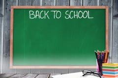 Samengesteld beeld van terug naar schoolbericht Stock Foto