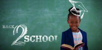 Samengesteld beeld van terug naar schooltekst op witte achtergrond Stock Foto's