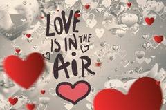 Samengesteld beeld van valentijnskaartenbericht Stock Afbeeldingen