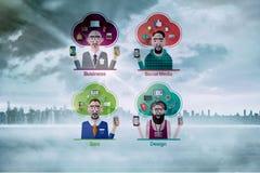 Samengesteld beeld van verschillende carrières stock illustratie