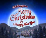 Samengesteld beeld van vrolijk Kerstmisbericht Royalty-vrije Stock Fotografie