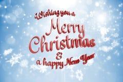 Samengesteld beeld van vrolijk Kerstmisbericht Royalty-vrije Stock Foto's