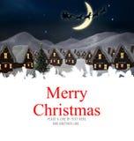 Samengesteld beeld van vrolijke Kerstmis Stock Foto