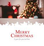 Samengesteld beeld van vrolijke Kerstmis Royalty-vrije Stock Foto