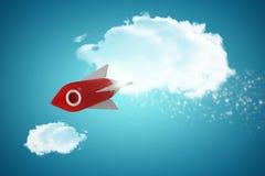 Samengesteld beeld van wit en rood ruimteschipstuk speelgoed Royalty-vrije Stock Afbeelding
